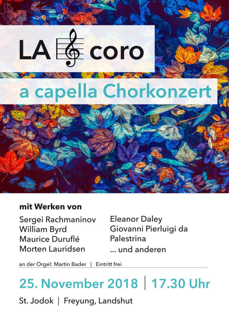 Konzertankündigung Plakat LA coro, November 2018